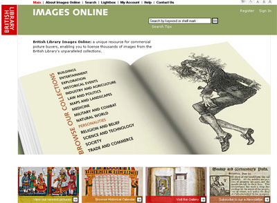 British Library Images Online screenshot